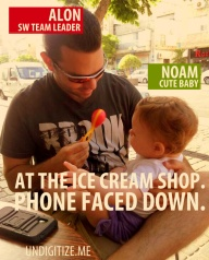 At The Ice Cream Shop. Phone Faced Down.