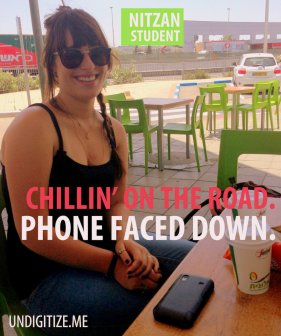 Chillin' On The Road. Phone Faced Down.