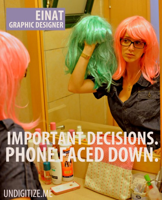 Important Decisions. Phone Faced Down.