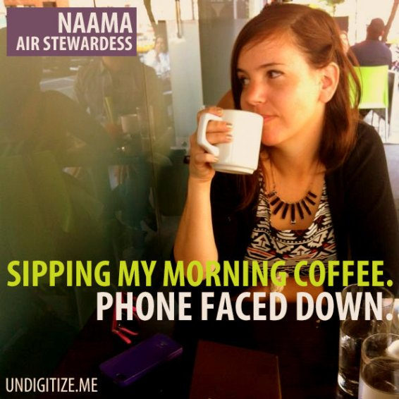 Sipping My Morning Coffee. Phone Faced Down.