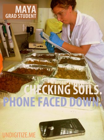 Checking Soils. Phone Faced Down.