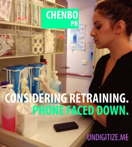 Considering Retraining. Phone Faced Down.