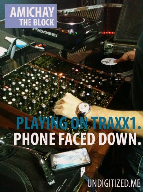Playing On Traxx1. Phone Faced Down.