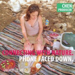 Connecting With Nature. Phone Faced Down.