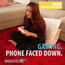 Gaming. Phone Faced Down.
