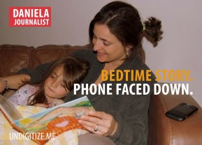 Bedtime Story. Phone Faced Down.