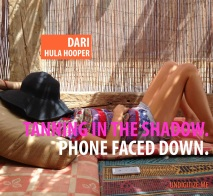 Tanning In The Sun. Phone Faced Down.