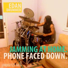 Jamming At Home. Phone Faced Down.
