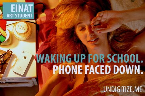 Waking Up For School. Phone Faced Down.