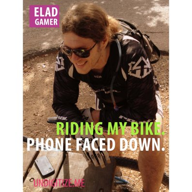 Riding My Bike. Phone Faced Down.