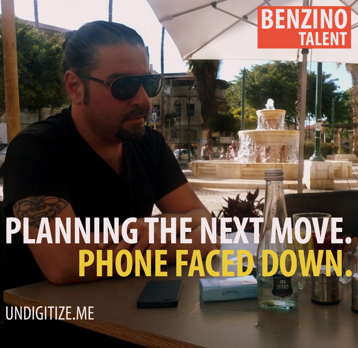 Planning The Next Move. Phone Faced Down.