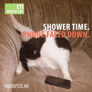 Shower Time. Phone Faced Down.