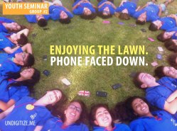 Enjoying The Lawn. Phone Faced Down.