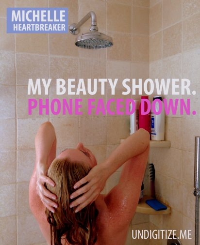 My Beauty Shower. Phone Faced Down.