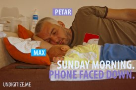 Sunday Morning. Phone Faced Down.