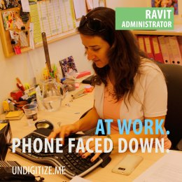 At Work. Phone Faced Down.