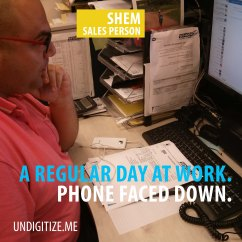 A Regular Day At Work. Phone Faced Down.