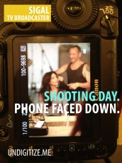 Shooting Day. Phone Faced Down.