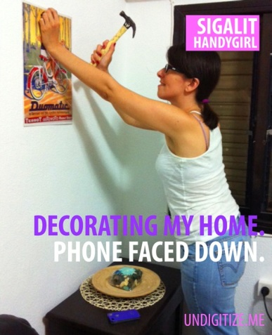 Decorating My Home. Phone Faced Down.