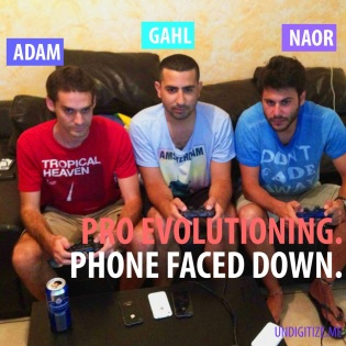 Pro Evolutioning. Phone Faced Down.