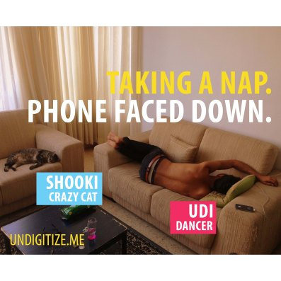 Taking A Nap. Phone Faced Down.