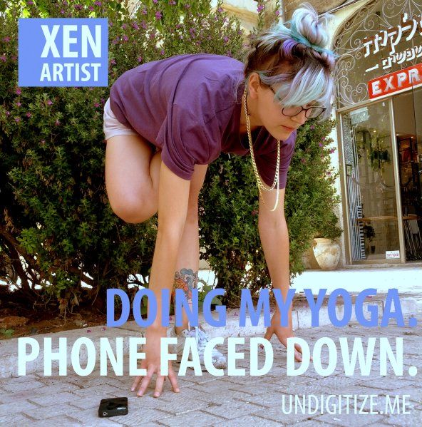 Doing My Yoga. Phone Faced Down.