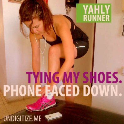 Tying My Shoes. Phone Faced Down.