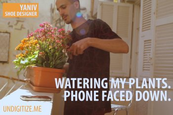 Watering My Plants. Phone Faced Down.